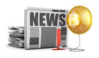 Newspaper and  bitcoin