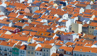 Portugal roofs aerial tile background