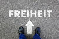 Freiheit frei sein Unabhängigkeit unabhängig finanzielle finanziell Businessman Business Konzept
