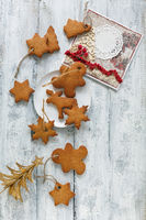 Christmas cookies,tree and greeting card.