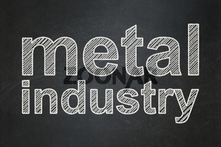 Manufacuring concept: Metal Industry on chalkboard background