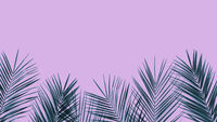 Frame of tropical leaves palm tree on ultra violet duotone background