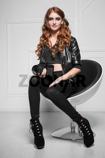 Pretty red-haired woman