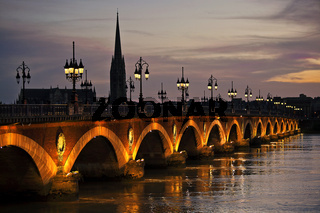 Pont de Pierre, Bordeaux, Aquitanien, France