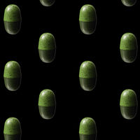 pattern of green chocolates