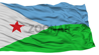 Isolated Djibouti Flag