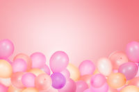 Abstract design of background with flying party balloons and copy space