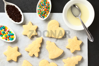 Homemade Sugar Cookies for Christmas