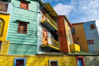 Die bunten Häuser im Caminito von la Boca