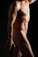 studio portrait of athlete man