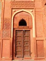 Door in Jahangiri Mahal, Agra Fort, Uttar Pradesh, India