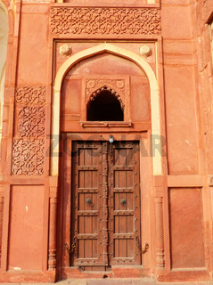 Door in Jahangiri Mahal, Agra Fort, Uttar Pradesh, India