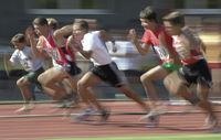 100m-Lauf Schüler A-Typical, verwischt -