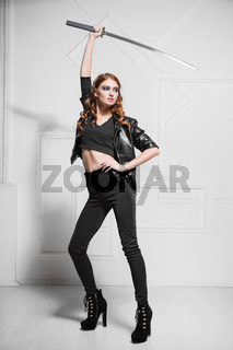 Graceful young model