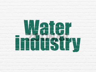 Industry concept: Water Industry on wall background