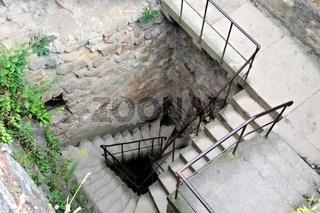 Treppe im Turm Burg Staufen