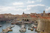The bay and Old Town of Dubrovnik, Croatia