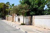 Empty street. La Zenia, Orihuela coast. Spain