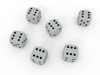 White playing dice