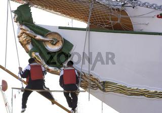 Galionsfigur des Segelschiffes Cuauhtémoc