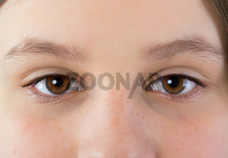 eyes of a young girl