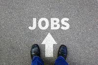 Jobs Job Arbeit Arbeitsstelle Jobsuche suchen Businessman Business Konzept