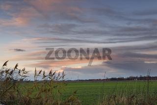 Abendstimmung über Ostfriesland