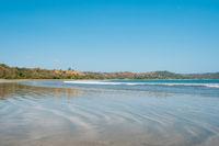 Beach landscape, ocean and coast at Playa Venao , Panama