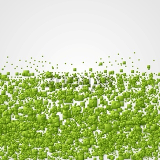 Geometric corporate background with green squares