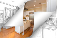 Kitchen Photo Page Corners Flipping with Drawing Behind