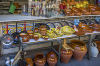 Pottery For Sale,Market, Valencia Old Town, Spain