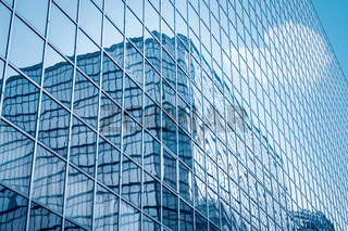glass curtain wall closeup
