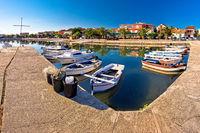 Adriatic village of Bibinje harbor and waterfront panoramic view