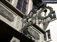 Altstadthaus in Schaffhausen,Schweiz