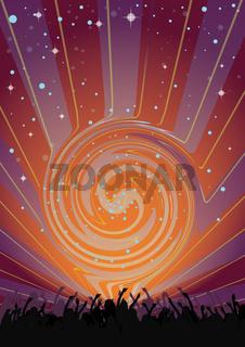 Party Flyer Dancing Supernova