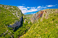 Cikola river canyon and Kljucica fortress ruins