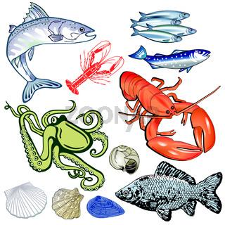 Fische Meeres.eps