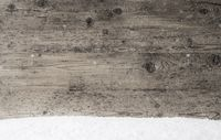Gray Wooden Texture, Background With Copy Space, Snowflakes