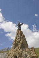 Statue auf dem Petit Saint Bernard