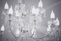 Crystal chandelier close up background