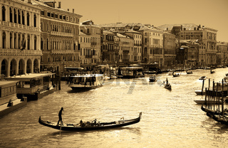 amazing Venice - sepia toned picture