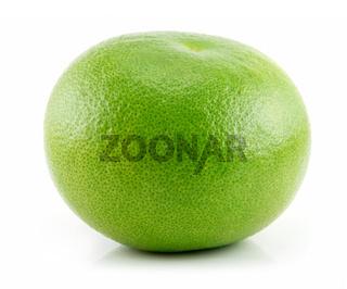 Ripe Green Grapefruit Isolated on White
