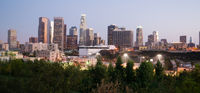 Panoramic View Downtown Urban Landscape Los Angeles California