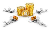 Men around Bitcoins
