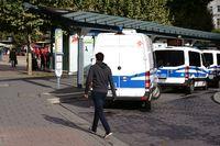 Polizeieinsatzwagen Tag der Deutschen Einheit