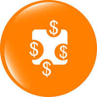 web sign icon. Dollar usd symbol. shiny button. Modern UI website button