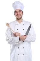 Koch jung Azubi Ausbildung Auszubildender kochen Beruf Freisteller