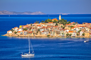 Scenic old Adriatic town of Primosten view