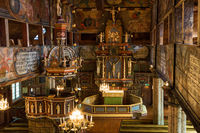 Interior view of an old Wooden Church