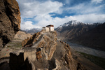 Dhankar Monastery Valley Below Landscape